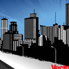Vector City Skyline Art - vector #220975 gratis