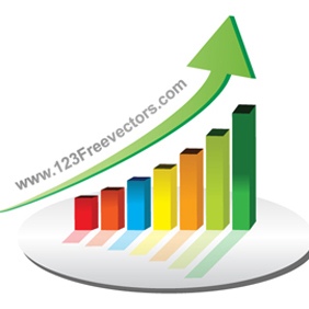 Business Graph Vector - vector gratuit #221045