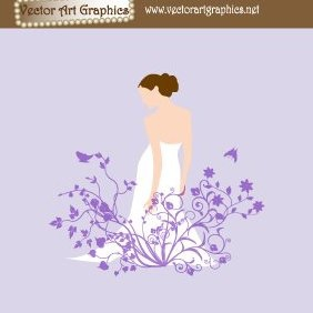 Wedding Dress Bride - Kostenloses vector #221085