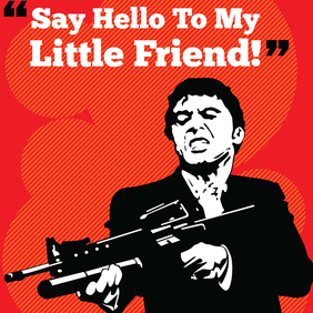 Iconic Cult Movie Vector Art: Scarface - Free vector #221125