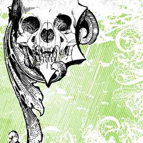 Money Skull 5 - vector #221165 gratis