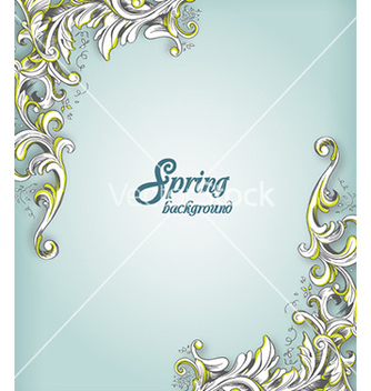 Free floral background vector - Free vector #221215