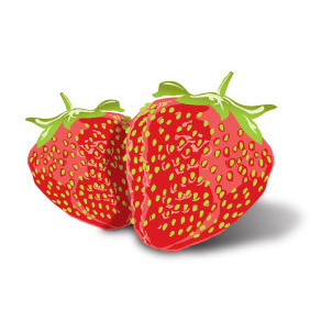 Tasty Strawberries - vector gratuit #221225
