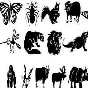 Various Animals - vector gratuit #221405