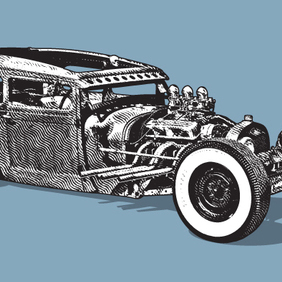 Hot Rod - vector #221645 gratis