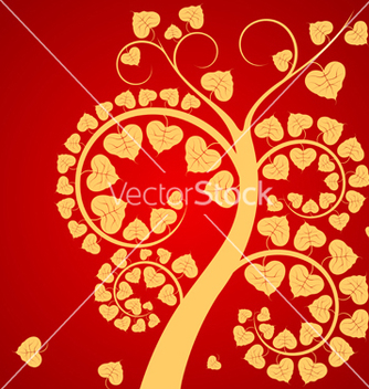 Free leaf and tree vector - vector gratuit #221715