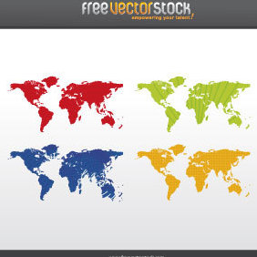 Worldmap - Free vector #221725