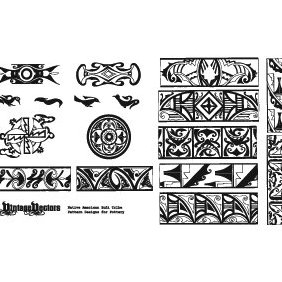 Native American Pottery Patterns - бесплатный vector #221745