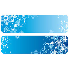 Winter Banners - vector gratuit #221885