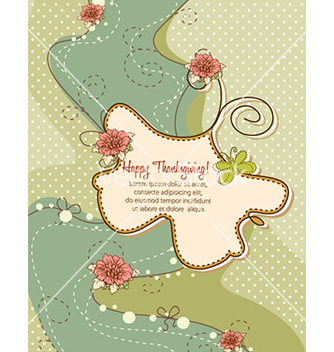 Free happy thanksgiving day with doodle frame vector - Free vector #221925
