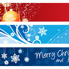 Christmas Banners - Kostenloses vector #221955