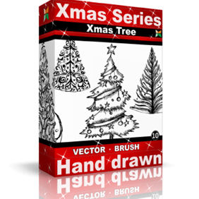 Xmas Vector & Brush Packs - Free vector #221975
