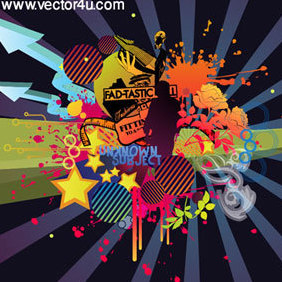 Abstract Vector Art - Free vector #221995