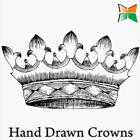 Hand Drawn Crown Vectors - vector gratuit #222065