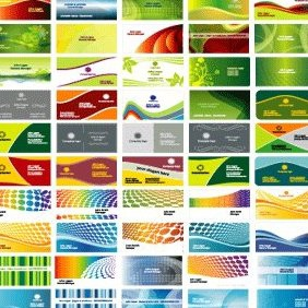 50 Free Business Card Templates - vector #222105 gratis