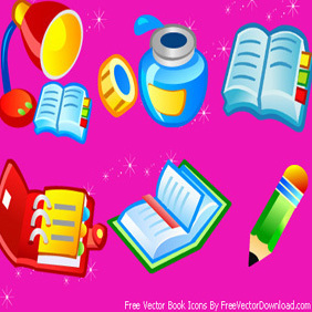 Free Vector Book Icons - vector gratuit #222315