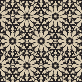 Seamless Flower Pattern-4 - vector gratuit #222355