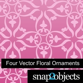 Four Vector Floral Ornaments - vector gratuit #222375