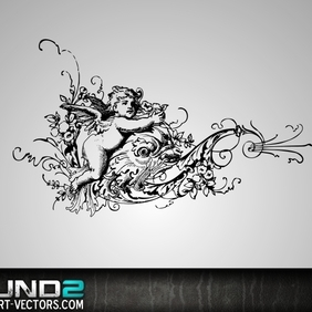 Floral Angel - vector #222385 gratis