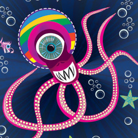 Acuactic1 Octopus Vector - бесплатный vector #222455
