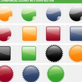 Glossy Vector Buttons - vector #222525 gratis