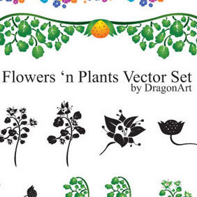 Flowers n Plants - vector #222665 gratis