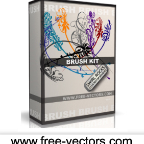 Illustrator Free Brush Kit - vector gratuit #222695