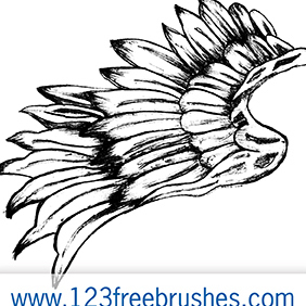 Hand Drawn Wings Vector + Brush - Free vector #222715