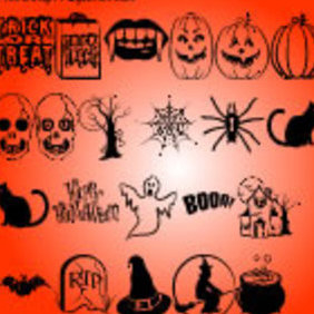 Halloween Vectors Part 2 - vector gratuit #222975