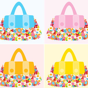 Bag Flowers - Free vector #223015