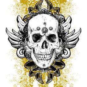 Free Wicked Skull Vector - бесплатный vector #223165