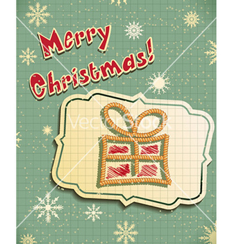 Free christmas with sticker vector - vector gratuit #223195