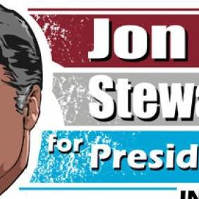 Jon Stewart Vector For President - бесплатный vector #223215