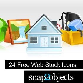 24 Free Web Stock Icons - vector #223225 gratis