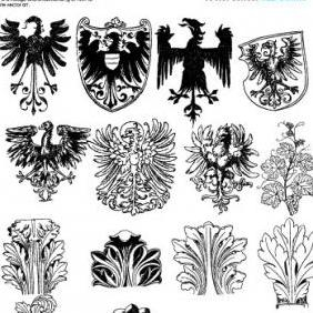 Heraldry Vectors - Free Series Old Scans - Kostenloses vector #223285