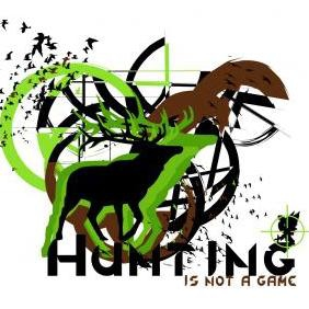 Is Not A Game Hunting Vector - Free vector #223315