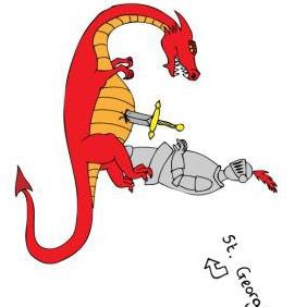 St George Dragon Vector - Free vector #223415