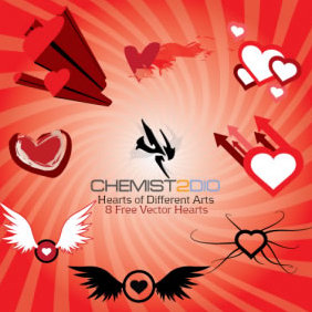 Hearts Of Different Arts - Free vector #223445