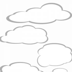 6 Clouds - vector #223505 gratis