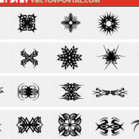 Tribal Set 1 - Free vector #223545