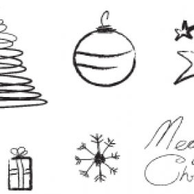 Christmas Sketch - vector gratuit #223625