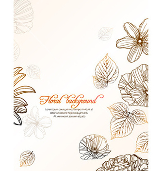Free floral background vector - Free vector #223705