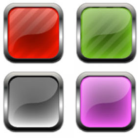 Class And Metal Buttons And Icons - vector gratuit #224005