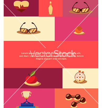 Free with sport elements vector - Free vector #224225