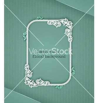 Free floral frame vector - Free vector #224245