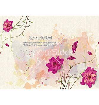 Free watercolor floral background vector - бесплатный vector #224295