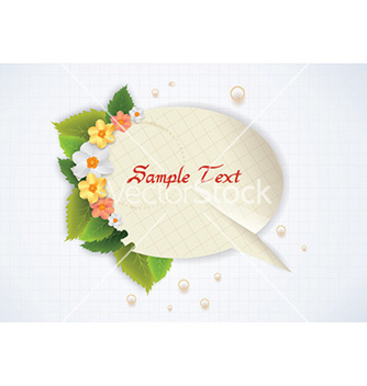 Free spring frame with floral vector - Free vector #224385