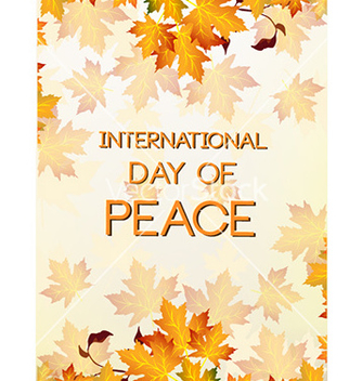 Free international day of peace with leaves vector - Free vector #224465