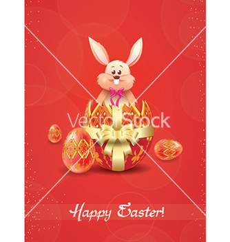 Free bunny with eggs vector - vector gratuit #224515