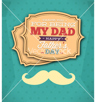 Free fathers day vector - Free vector #224685